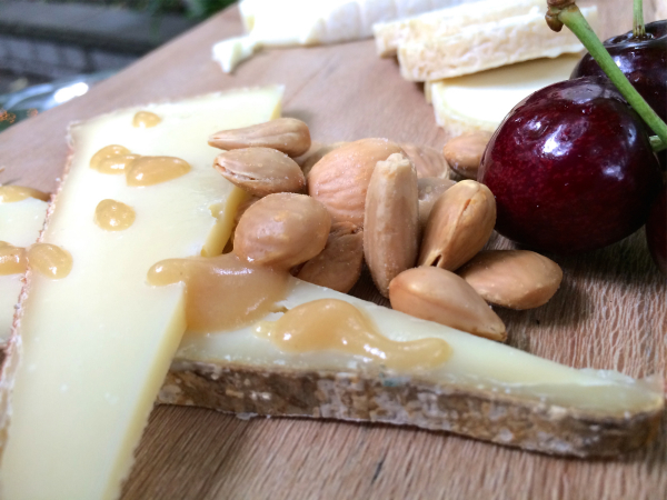 Cheddar and Cherries with Marcona Almonds